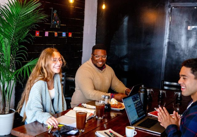 Grab your people and come get stuff done! Free wifi & $1 refills on drip coffee at both locations for the perfect spot to knock out those to-do lists 🙌