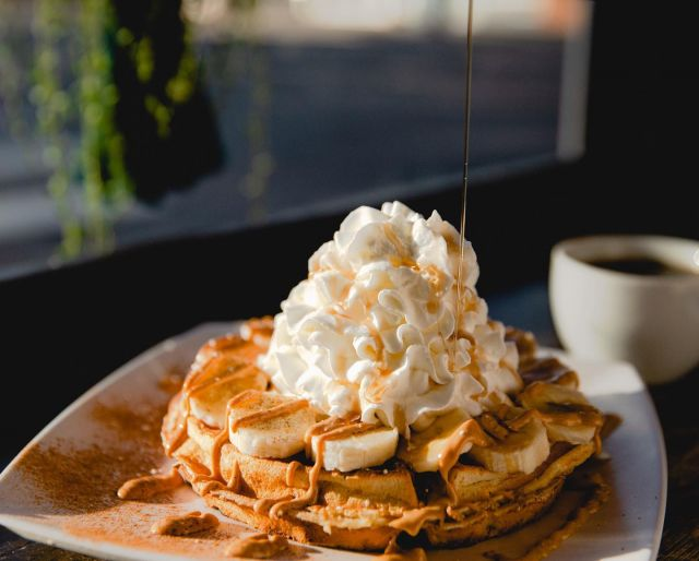Tag someone who deserves a waffle (disclaimer: you all do) Happy Saturday ☕️🖤🧇